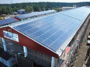 Photovoltaik Solar GermanPV Landwirtschaftskonzept